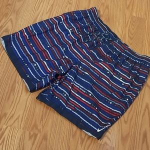 New nike swim shorts xxl red white an blue
